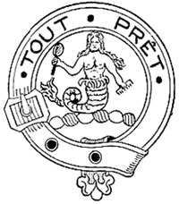 A line drawing of the Murray crest badge.