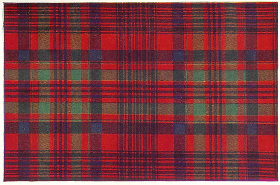 A photo of a section of the Murray of Tullibardine tartan.